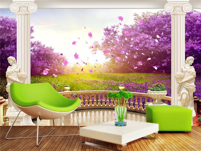 Lavender color in the interior